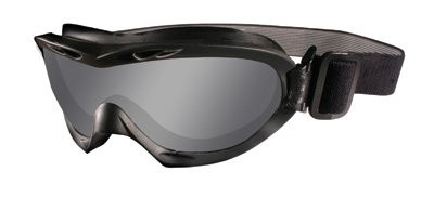 455161a9c7 Wiley X Nerve Tactical Rx Safety Goggles in Black with Grey   Clear Lens.  Image 1. Loading zoom