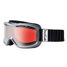 Bollé Ski Goggles: Monarch in Shiny Silver with Vermillion Gun Lens