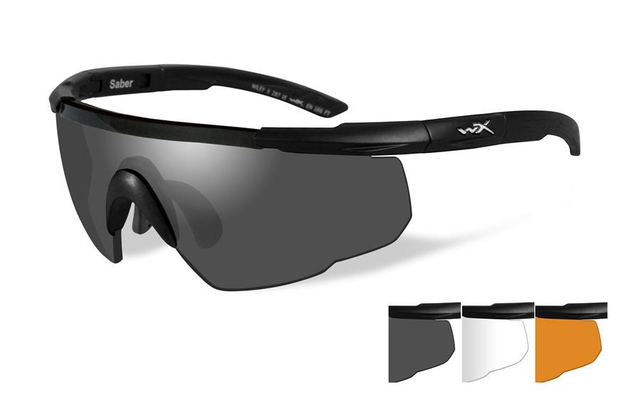 a36b791e66e84 Wiley X Saber Advanced Safety Sunglasses in Matte Black with Rust ...