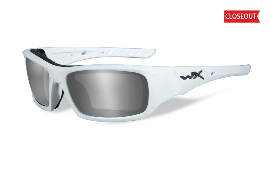 9618fd880c Wiley X Arrow in White   Polarized Silver Flash - Rhino Safety Glasses