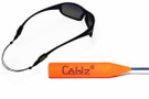 Cablz Zipz Adjustable Eyewear Retainer in Blue & Orange