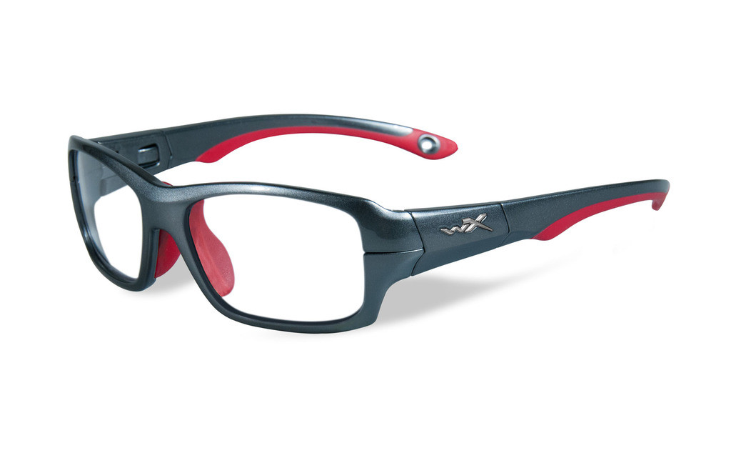 aa12b68379cf0 Wiley-X Youth Force Series  Fierce  in Dark Silver   Red Safety ...
