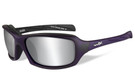 Wiley-X High Performance Eyewear Sleek Sunglasses in Matte-Violet with Silver Flash Grey Lens (CCSLE01)