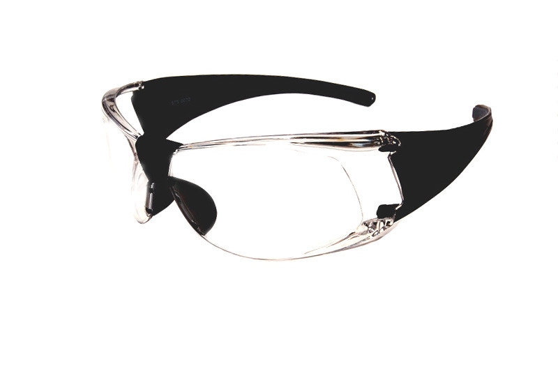 d9d4595cf70 Sport Safety Glasses Z87 Safety Rated in Black w  Clear Lens STS-0070.  Image 1. Loading zoom. Image 1. Image 2. See 1 more picture