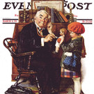 """Norman Rockwell Famous Artwork Cleaning Cloth """"Doctor And Doll"""""""
