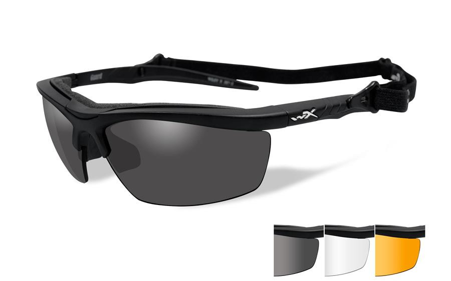 7ef8d54eed Wiley X Guard Safety Glass in Matte Black Grey Clear Rust Lenses ...