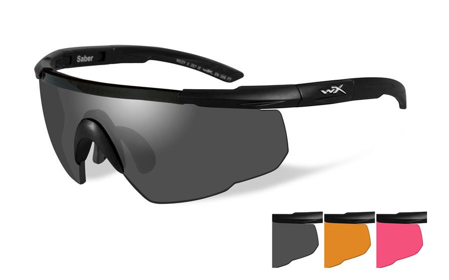 349ec7d978e0 Wiley X Saber Advanced Safety Sunglasses in Matte Black with Light ...