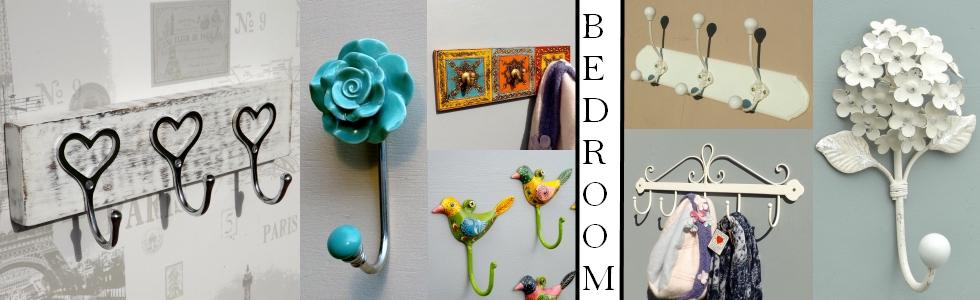 Bedroom coat hooks
