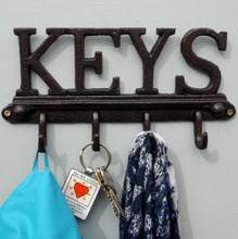 """""""KEYS"""" Cast Iron Coat rack"""