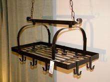 Black Metal Pot Hanger Kitchen Rack