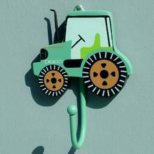 Green Tractor Coat Hook for Children