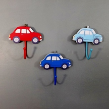 Set of three Car Coat Hooks for Children