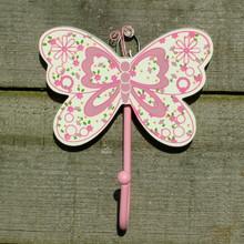 Pink Butterfly Coat Hook