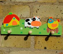 Farm Yard Coat Rack for Children