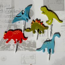 Set of 5 Dinosaur Hooks for Boys
