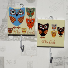 WISE OWLS Pair of Coat Hooks