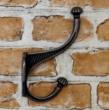 Victorian Pumpkin Tip Cast Iron Coat Hook
