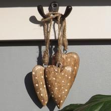 Dotty Wood Hearts