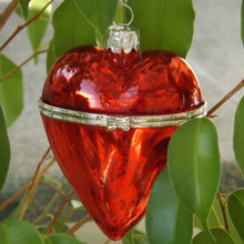 Red hanging Heart trinket box Christmas Bauble
