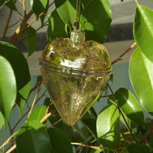 Gold Hanging Heart Christmas Bauble