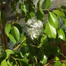 Silver Snowflake hanging Heart Christmas bauble