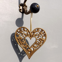 Antique Gold Filigree hanging Heart