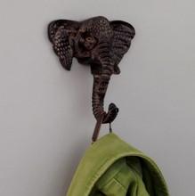 Cast Iron Elephant Single Hook