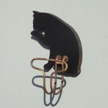 Black Cat Mini Chalk Board Coat Hook