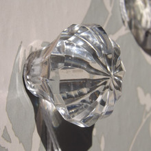 Faceted glass star Drawer knob