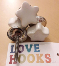 Soft Cream Star Door Knobs | Lovehooks