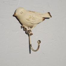 Distressed metal Bird Coat Hook