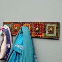 hand painted five hook coat rack