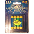 4AAA NMH RECHARGEABLE PER CARD Video Battery
