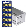 Sony Murata LR44 - A76 Alkaline Button Battery 1.5V - 100 Pack - FREE SHIPPING