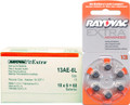 Rayovac 13AE Hearing Aid Batteries 10 Wheels 6 Per Wheel + FREE SHIPPING