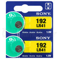 Sony LR41 - 192 Alkaline Button Battery 1.5V - 100 Pack + FREE SHIPPING!