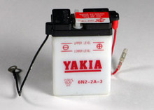 6 Volt 2 AMP Motorcycle and Power Sport Battery (6N2-2A-3)