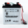 6 Volt 6 AMP Motorcycle and Power Sport Battery (6N6-1B-1)