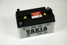 6 Volt 11 AMP Motorcycle and Power Sport Battery (6YB11-2D)