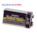 Energizer Industrial Alkaline 9V Buy 20 Get 24 ( 4 FREE )