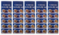 AG13 / LR44 Alkaline Button Watch Battery 1.5V - 500 Pack - FREE SHIPPING