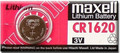 Maxell CR1620 3 Volt Lithium Coin Battery