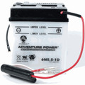 6N5.5-1D 6 Volt 5.5 Amp Hrs Conventional Power Sport Battery