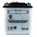 6N6-3B 6 Volt 6 Amp Hrs Conventional Power Sport Battery