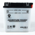 6N6-3B-1 6 Volt 6 Amp Hrs Conventional Power Sport Battery