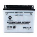 YB7C-A 12 Volt 8 Amp Hrs Conventional Power Sport Battery
