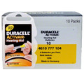 Duracell Activair Hearing Aid Batteries Size 10 - 10 Wheels of 4 + FREE SHIPPING