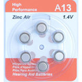 A675 Zinc Air Hearing Aid Batteries - 10 Wheels - 6 Batteries Per Wheel + FREE SHIPPING!