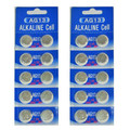 AG13 / LR44 Alkaline Button Watch Battery 1.5V - 10 Pack - FREE SHIPPING