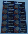 Renata CR1620 3V Lithium Coin Battery - 10 Pack + FREE SHIPPING!